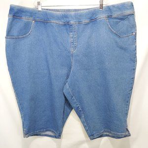 NWOT Terra & Sky Pull-On Bermuda Denim Shorts 5X
